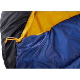 Nordisk Puk -10° Mummy Saco de Dormir M, true navy/mustard yellow/black